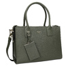 Leather handbag with strap picard, green, 966-7039 - 13