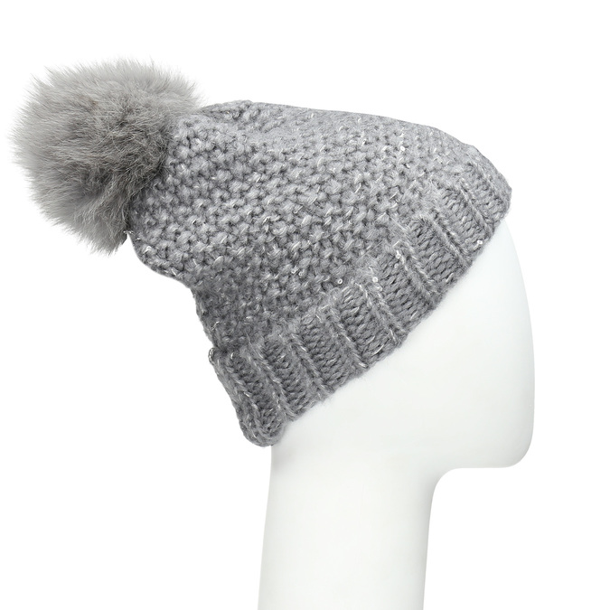 Furry Pompom Hat bata, multicolor, 909-0152 - 13