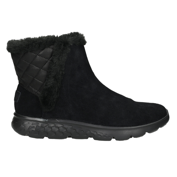 Ladies' brushed leather boots skechers, black , 503-6326 - 16