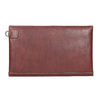 Leather clutch with stitching bata, red , 966-5285 - 16