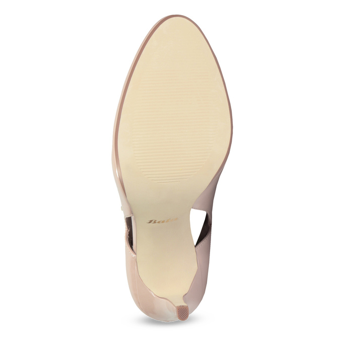 Pinkish cream-colored pumps with cut-outs insolia, pink , 721-8614 - 18