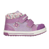 Kids' hi-top sneakers with a pattern bubblegummer, violet , 121-9618 - 26