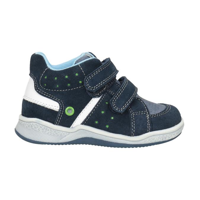Kids' leather ankle boots bubblegummer, blue , 113-9603 - 26