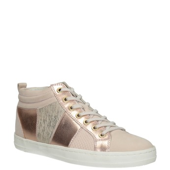 Ladies' high-top sneakers bata, pink , 546-5608 - 13