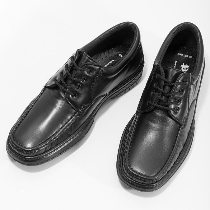 Men's shoes with stitching pinosos, black , 824-6542 - 16