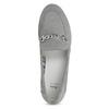 Grey leather moccasins bata, gray , 513-2615 - 17