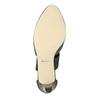 Ladies' leather pumps insolia, black , 624-6643 - 17