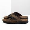 Men's leather slip-ons bata, brown , 866-4612 - 16