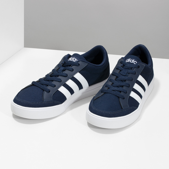 Men's casual sneakers adidas, blue , 889-9235 - 16