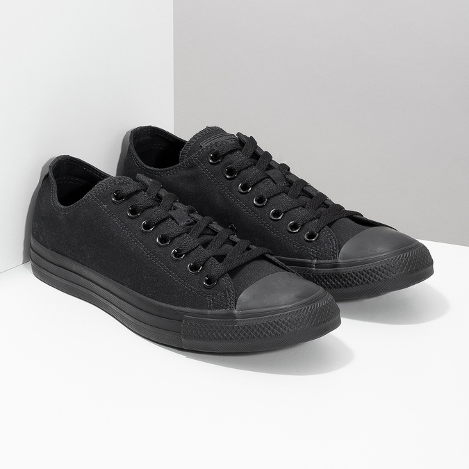 Men's black sneakers converse, black , 889-6279 - 26