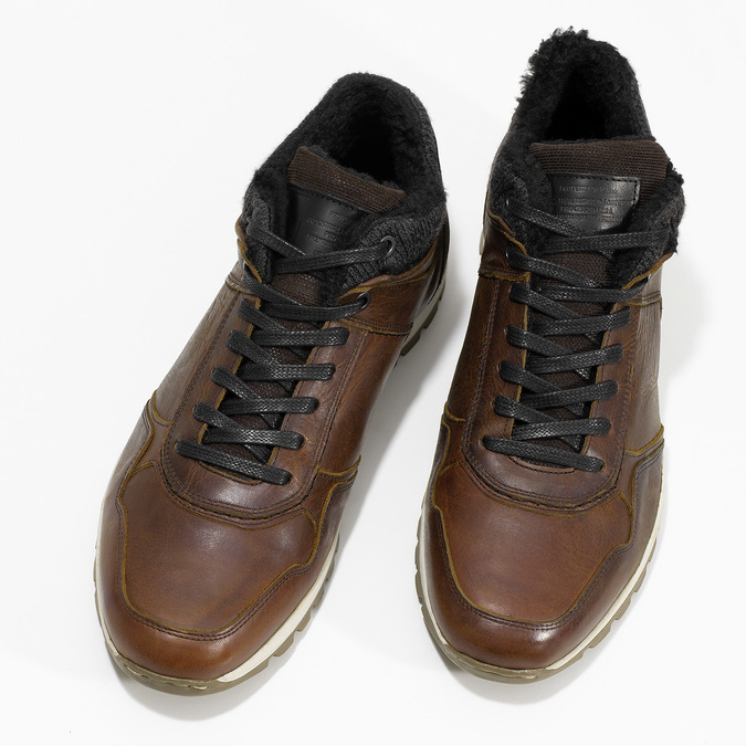Leather Winter Sneakers bata, brown , 846-4646 - 16