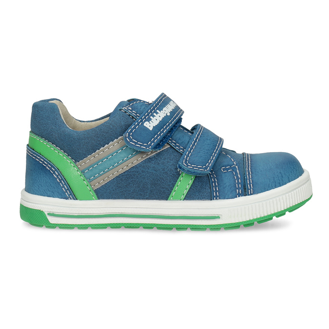 Blue children's casual sneakers bubblegummer, blue , 111-9625 - 19